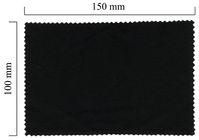Handričku na okuliare z mikrovlákna jednofarebný - čierny 100x150