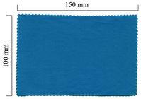 Handričku na okuliare z mikrovlákna jednofarebný - modrý 100x150