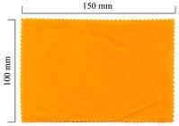 Handričku na okuliare z mikrovlákna jednofarebný - oranžový 100x150