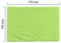Handričku na okuliare z mikrovlákna jednofarebný - zelený 100x150