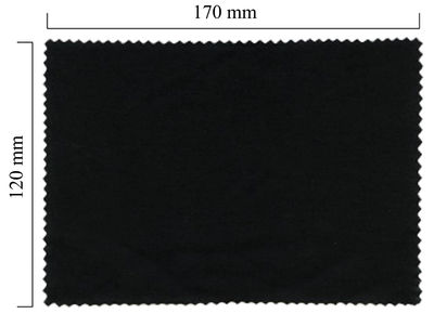 Handričku na okuliare z mikrovlákna jednofarebný - čierny 120x170