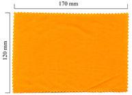 Handričku na okuliare z mikrovlákna jednofarebný - oranžový 120x170