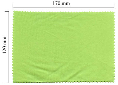 Handričku na okuliare z mikrovlákna jednofarebný - zelený 120x170
