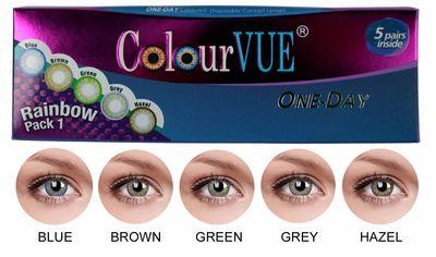 ColourVue Trublends One-Day Rainbow Pack1 - (5 párů barevných šošoviek) - nedioptrické