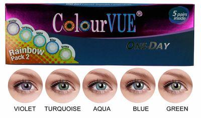 ColourVue Trublends One-Day Rainbow Pack2 - (5 párů barevných šošoviek) - nedioptrické