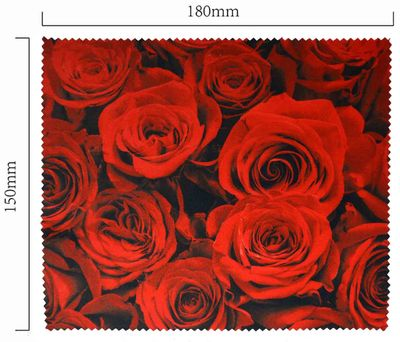 Handričku na okuliare z mikrovlákna - ruže