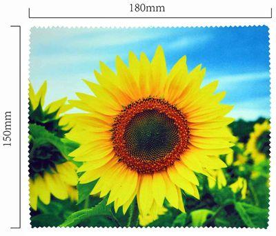Handričku na okuliare z mikrovlákna - slnečnica