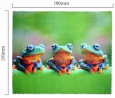 Handričku na okuliare z mikrovlákna - žaby