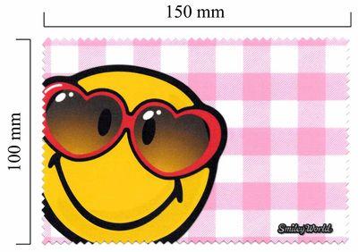 Handričku na okuliare z mikrovlákna Smiley - čiervené okiliare