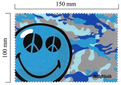Handričku na okuliare z mikrovlákna Smiley - Modré