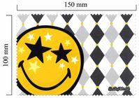 Handričku na okuliare z mikrovlákna Smiley - Star
