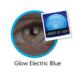 ColourVue Crazy šošovky UV svietiace -  Electric Blue (2 ks ročné) - nedioptrické